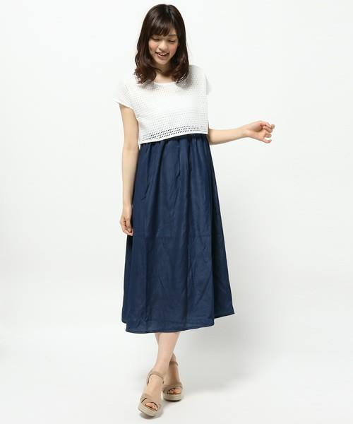 マキシワンピ コーデ